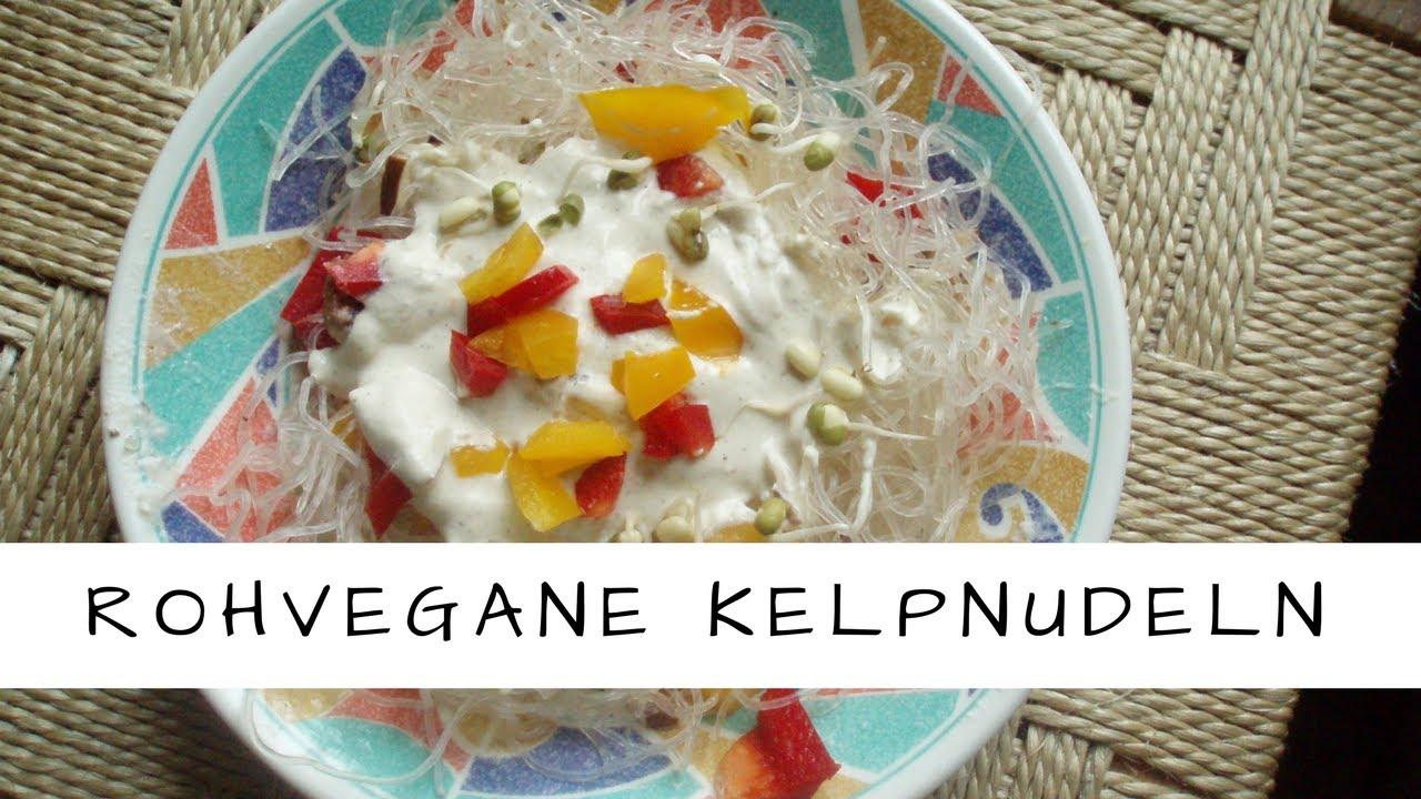 Vegane Rohkost: Kelpnudeln mit Kokos- Hanf- Sauce