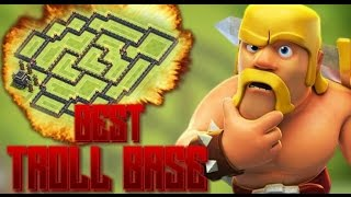 Clash of Clans - *NEW* BEST UNDEFEATED TOWN HALL 9 (TH9) TROLL BASE ! HOW TO WIN EVERY DEFENSE !