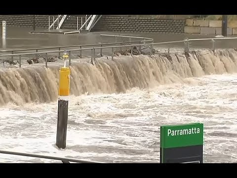 Record rainfall causes flash flooding in Sydney