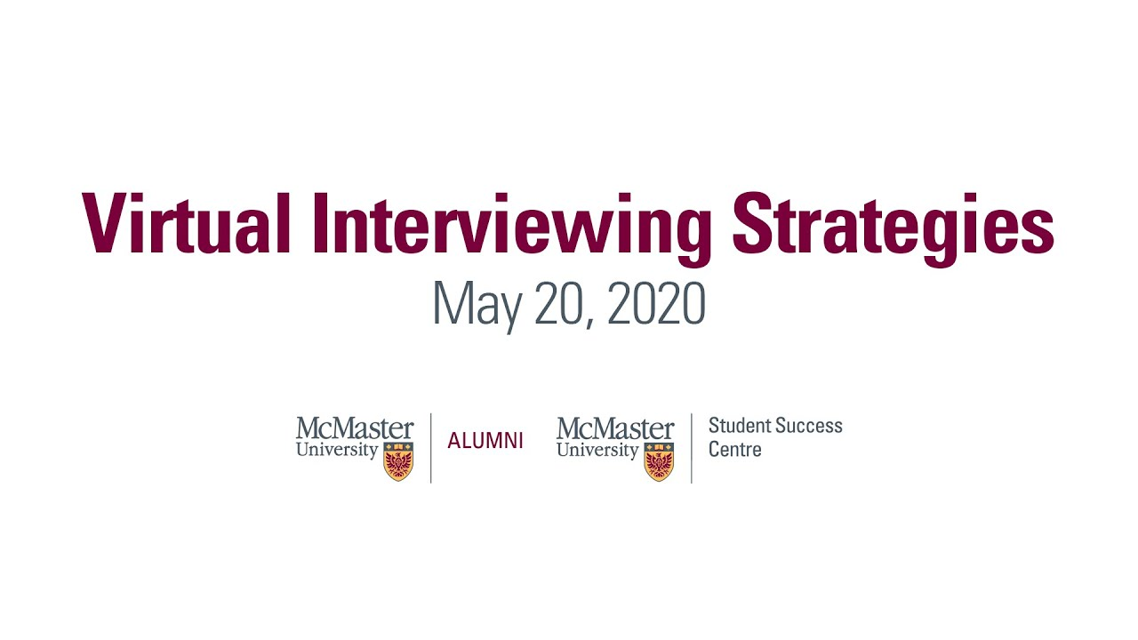 Image for Virtual Interviewing Strategies webinar