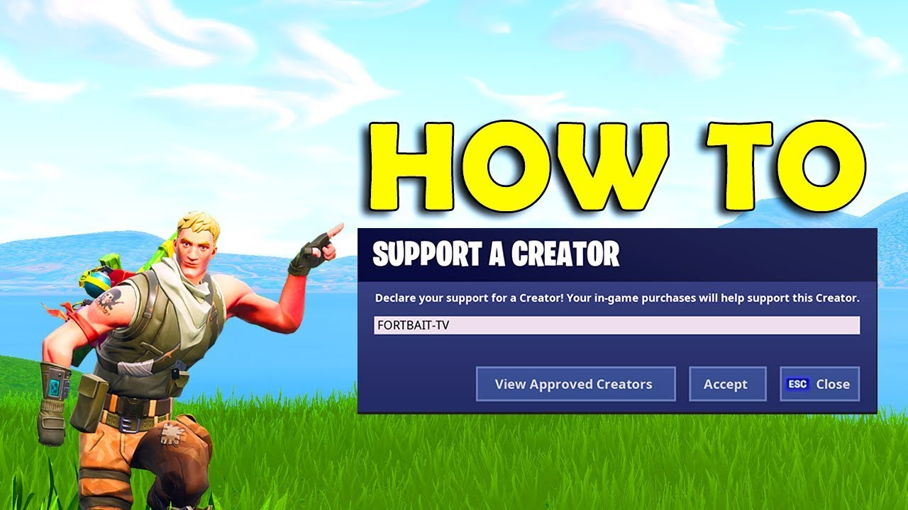 How to support a creator in Fortnite (FIND THE BUTTON ...