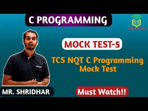 TCS NQT 2020 C Programming MOCK TEST Part5!
