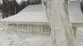 New York Home Is Frozen in Ice