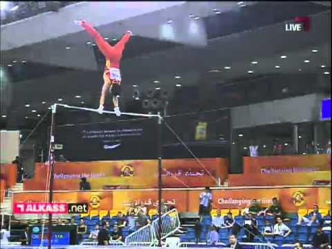 ZOU Kai on HB, Gymnastics Challenge Cup, Doha 2012