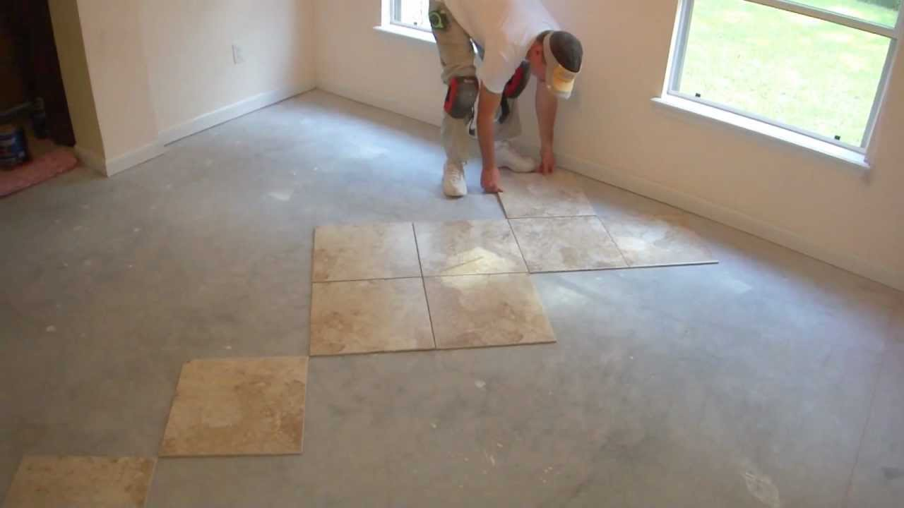 how do you lay tile in a bathroom how to tile and layout floor tile part 4 of 9 26345