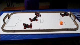 Mobil super kendali jarak jauh bermain sepak bola