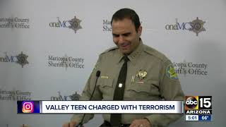 Valley teen charged with terrorism after Fountain Hills incident