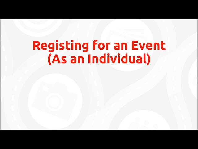 Classy How-To - Register for an Event (individual)