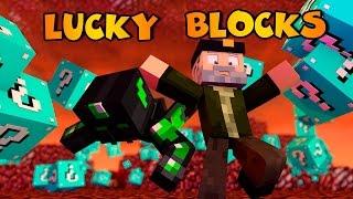 Minecraft: SALTO DE FE!! c/ sTaXx | BLUE 2 Lucky Blocks Epic Race