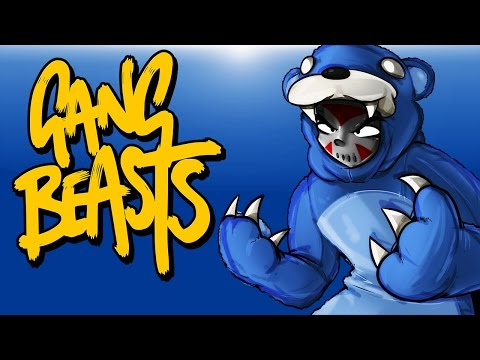 Gang Beasts Ep. 2 (Funniest Game Ever!) TEDDY BEAR POWER!!!!