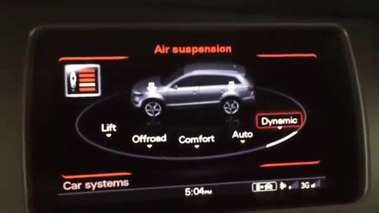 AUDI Adaptive Air Suspension in 2015 Q7 Demonstration - YouTube