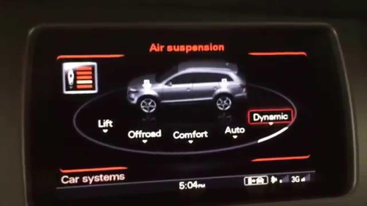 Audi Adaptive Air Suspension In 2015 Q7 Demonstration