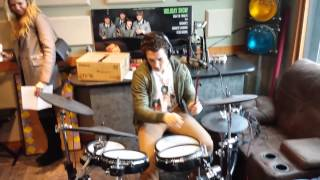 Miles Teller on drums on the Bob Rivers Show