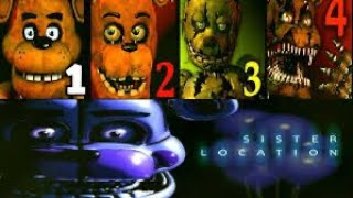 Sustos de five Night a freddy 1 2 3 4 y sister locatiom