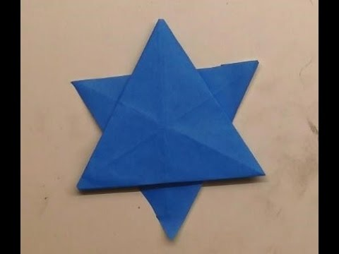 �������� ��� ��� origami star of david� youtube