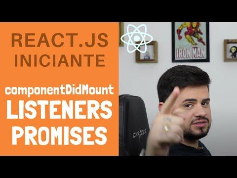 #05 - Tutorial de React.JS iniciante, componentDidMount, Listener e Promise thumbnail