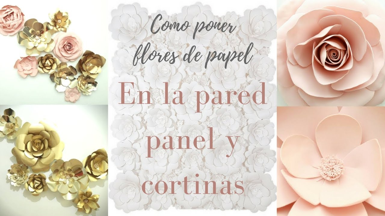 Como Poner Flores De Papel En La Pared Cortinas Y Panel Pabla En