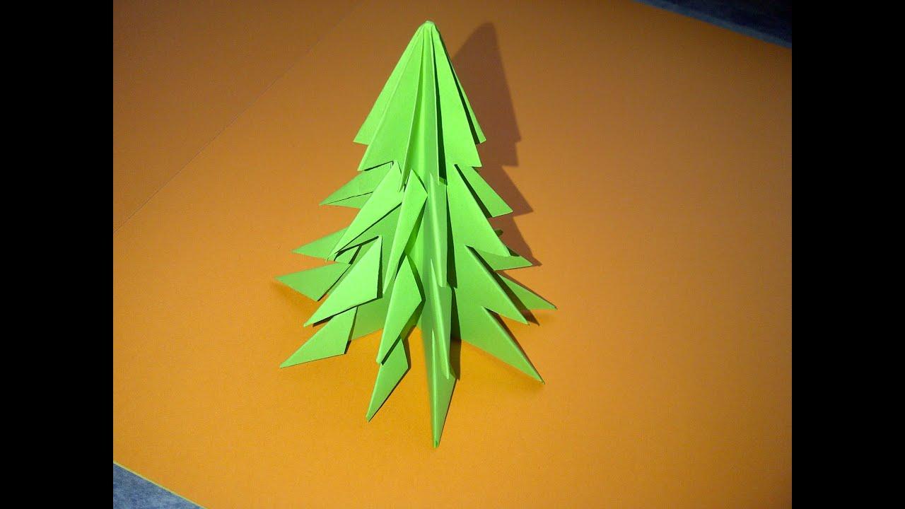Como hacer un rbol arbol de navidad 3d en papel como - Como hacer un arbol de navidad ...