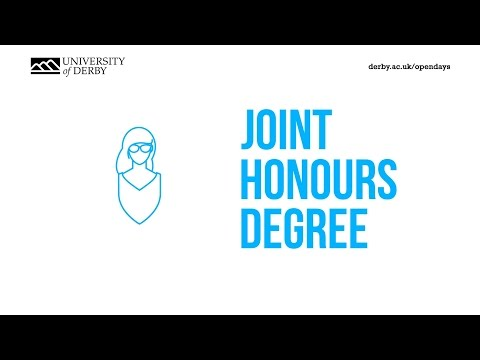 Joint Honours degrees at the University of Derby