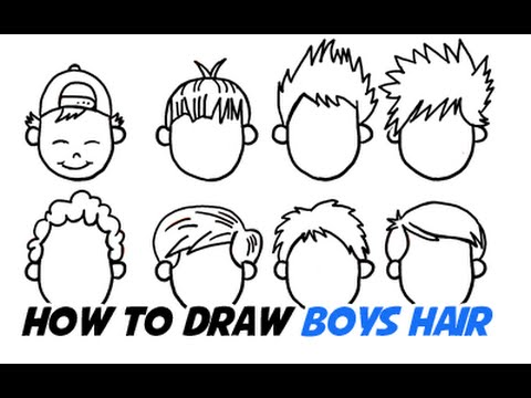 how to draw boys hair in different cartoon styles youtube