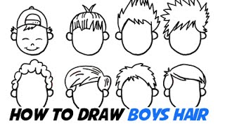 How to Draw Boys Hair In Different Cartoon Styles