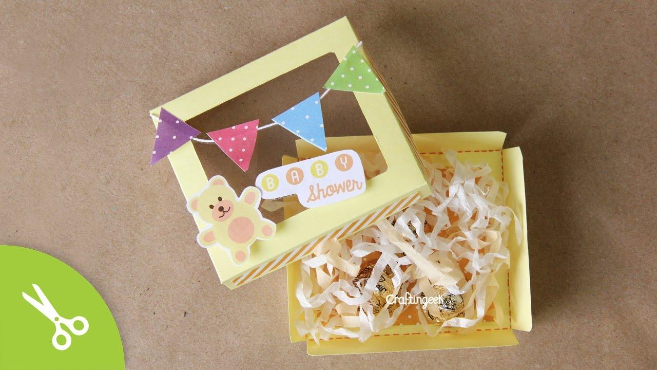 Invitación Para Baby Shower Caja Tarjeta Multiusos