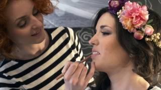 Demostración sobre tendencias de maquillaje y peluqueria 2015