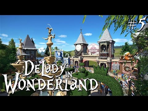 5. Planet Coaster: DeLady in Wonderland - Fairytale/Fantasy/Candy Main Street - Ep. 4 - Finishing