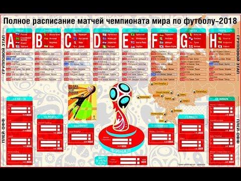 График игр чемпионата мира по футболу видео