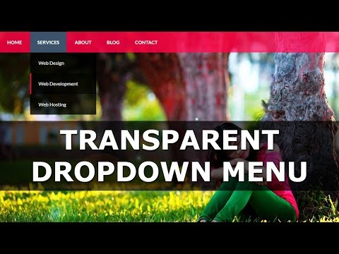 Transparent Dropdown Menu In HTML And CSS  (Hindi)