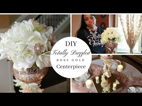 DIY Wedding Centerpiece & Tablescape| Dollar Tree DIY| Totally Dazzled | Rose Gold