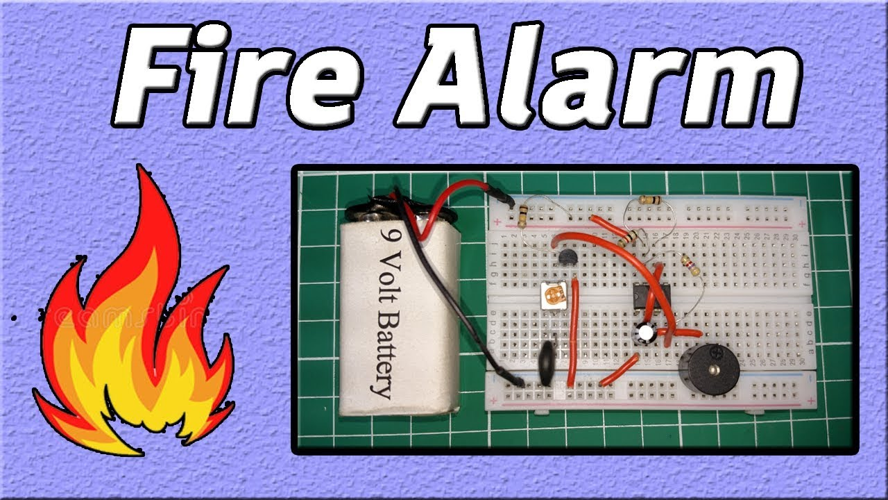 Fire Alarm Schematic Diagram Vauxhall Vectra C Headlight Wiring Circuit Ic 555 Electronics Projects Youtube