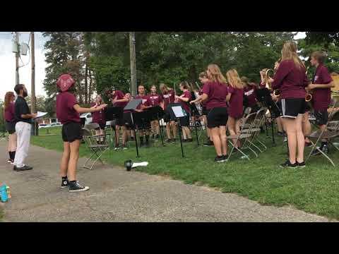 Parchment High School Band Kindleberger Park Dedication