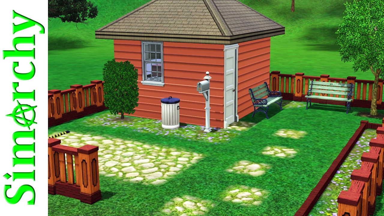 The sims 3 speed build 4x4 challenge tiny house starter home youtube - Make a house a home ...