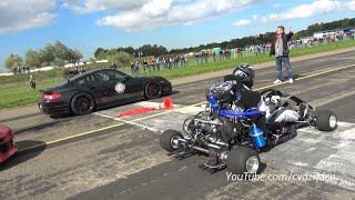 230HP Super Kart vs. 1300HP Porsche 9ff vs. 1088HP AUDI S4 thumbnail