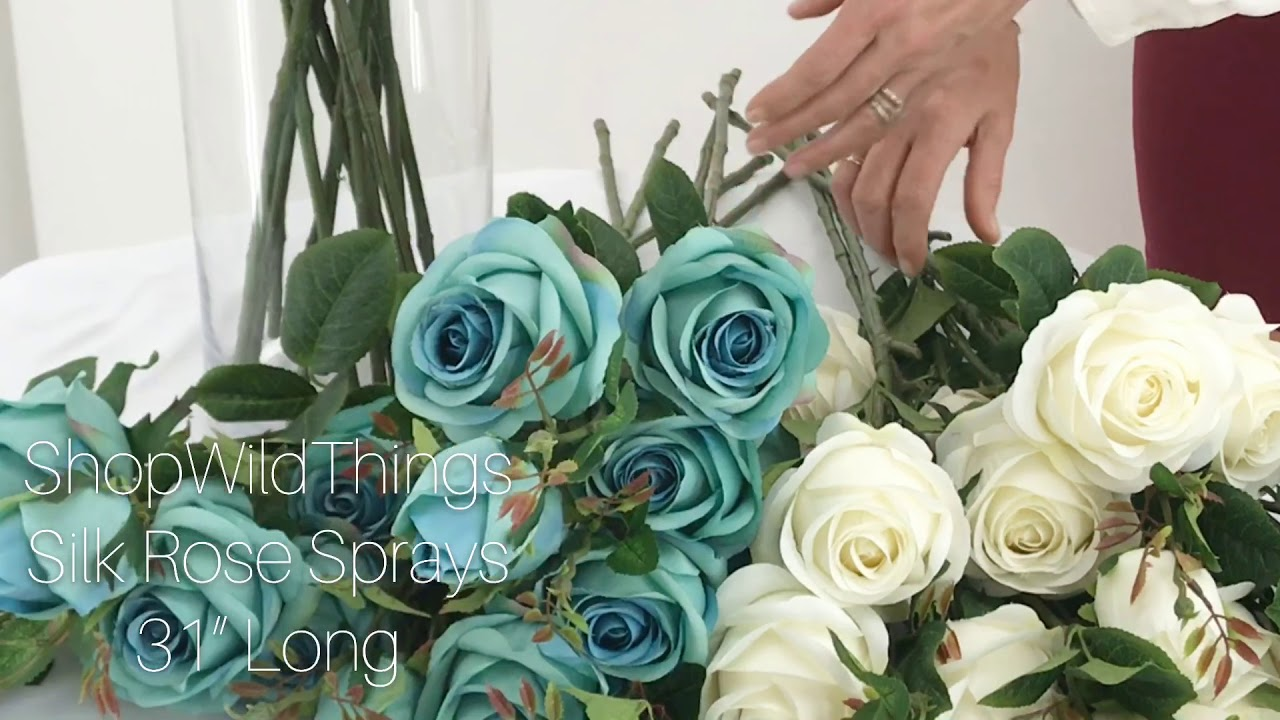 Shopwildthings Rose Sprays Wedding Event Artificial Flowers
