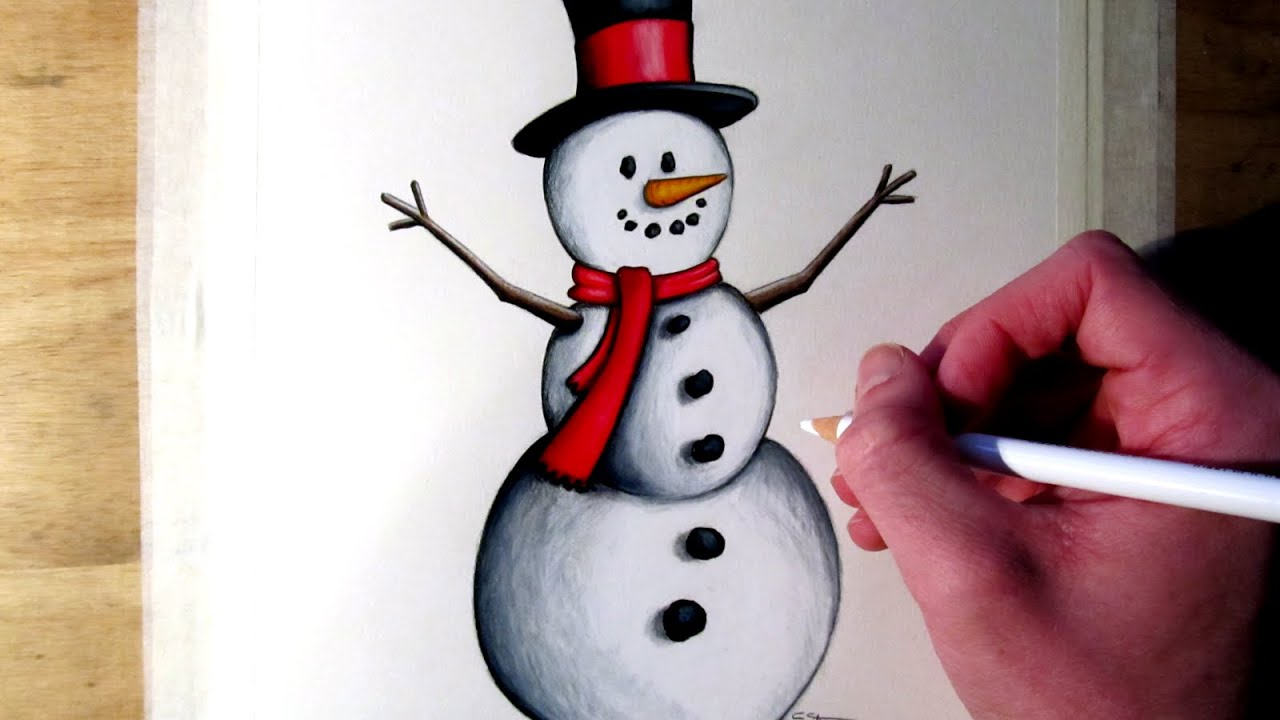Uncategorized Drawing Of A Snowman how to draw a snowman youtube