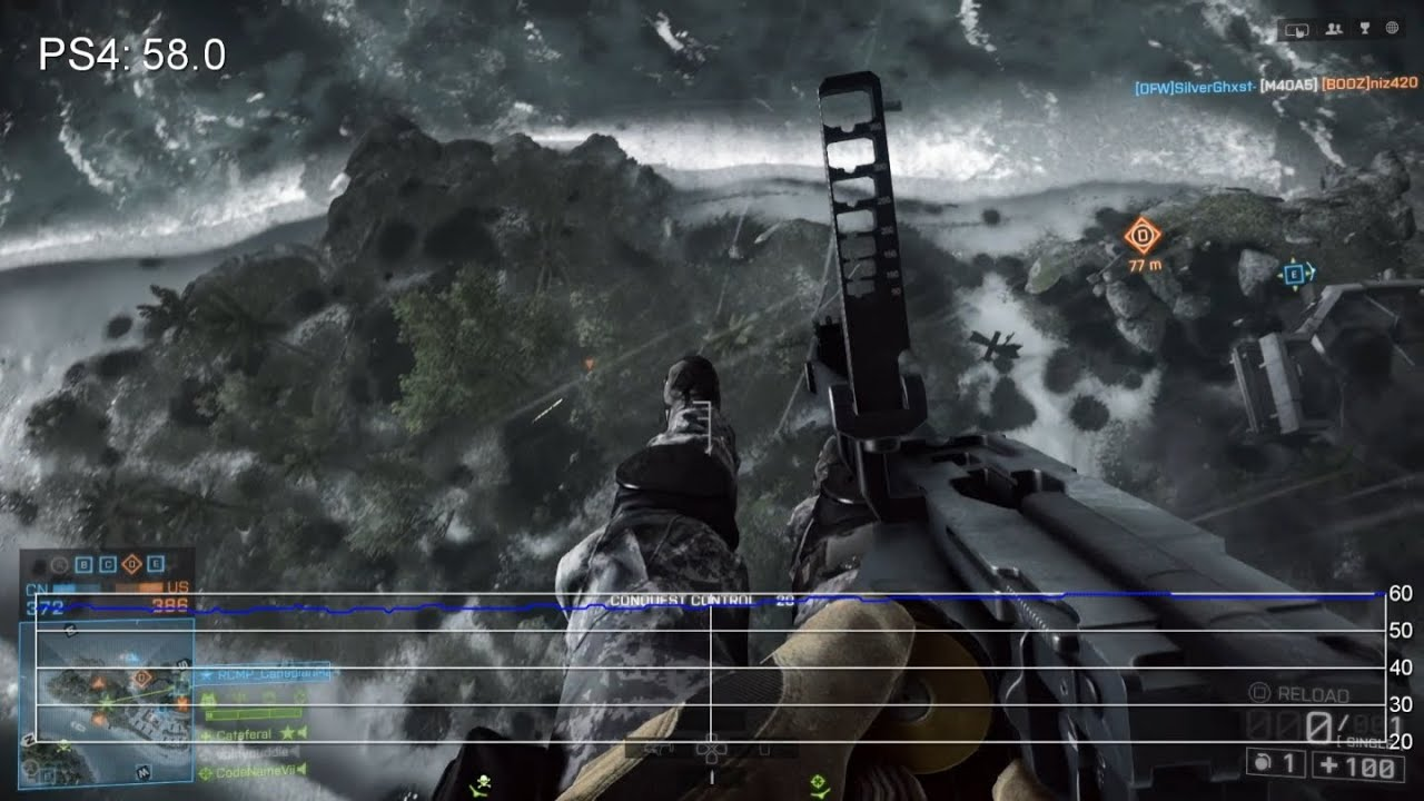 Battlefield 4 Final Code: PS4 Multiplayer Frame-Rate Tests - YouTube