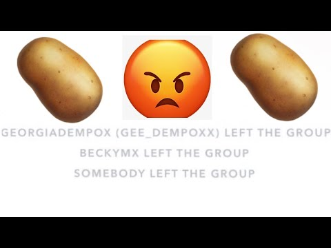 Spamming Potato's In The Chat Until A Member Leaves(Potato Challange)