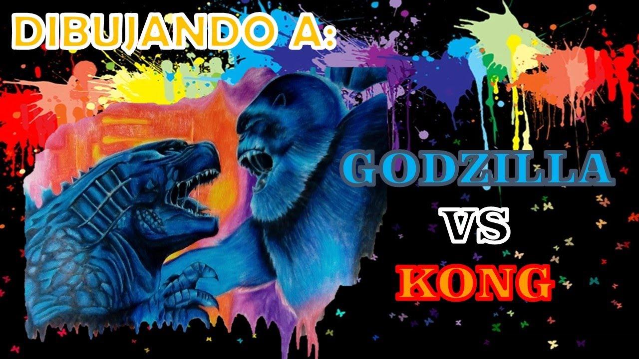 Dibujando A Godzilla Vs Kong 2020 Speed Drawing Poster Drawing Godzilla Vs Kong 2020 Youtube