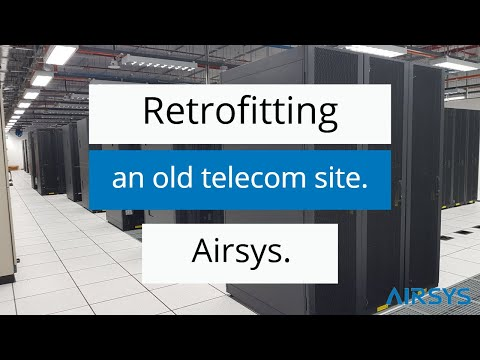 Telecom Cooling - Retrofitting an old site. Airsys Singapore