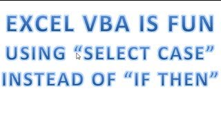Excel VBA Tips n Tricks 37 Using SELECT CASE instead of IF THEN   Pt 4 CASE IS Using Operators