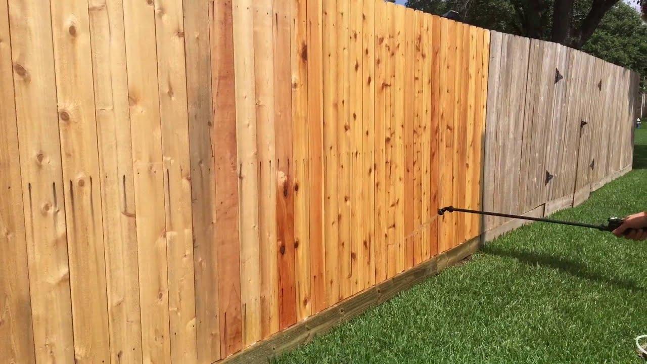 Cedar Fence Nail Rust Removal Youtube