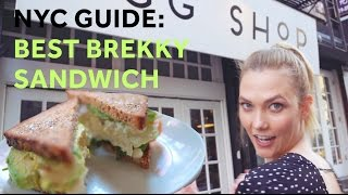 how to make the best breakfast sandwich in nyc karlie kloss