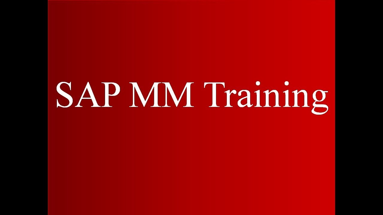 SAP MM Training - Physical Inventory (Video 32)   SAP MM Material Management
