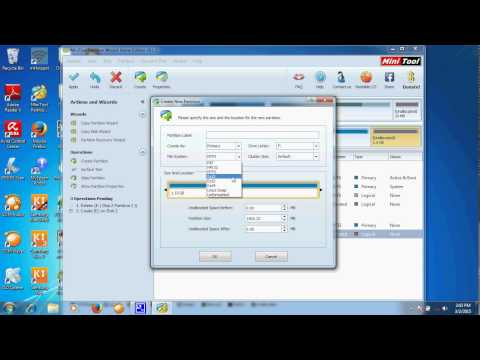 how to create partition micro sd card using minitool for Link2SD