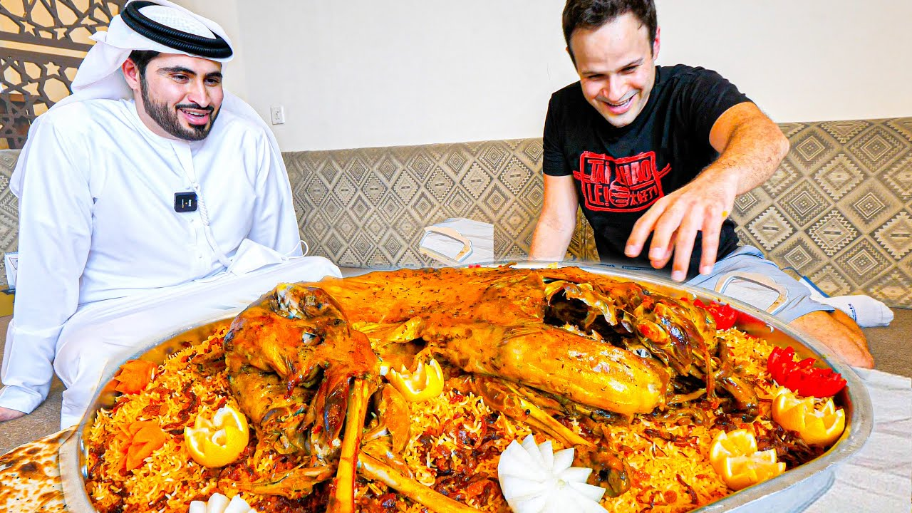 EXTREME Food in Dubai - GIANT Yemeni GOAT PLATTER COOKING!!! The cooking process is amazing!!
