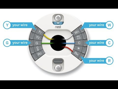 How To Install The Nest Thermostat E Home Automation System YouTube - Nest wiring diagram