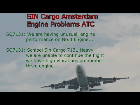 Singapore Airlines Engine Problem returns to Amsterdam Air Traffic Control (2nd Feb 2016)