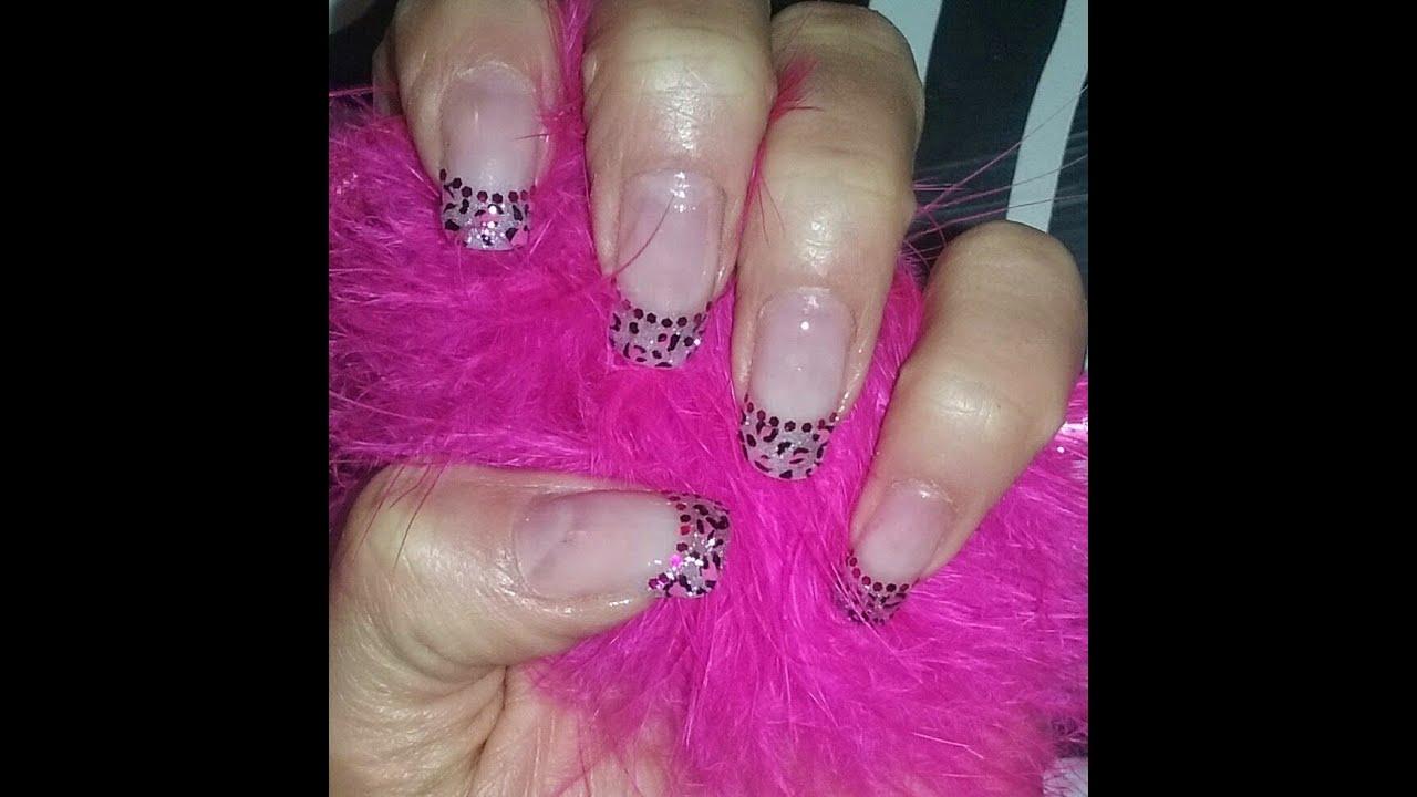 Nail Art Uñas Leopardo Rosa